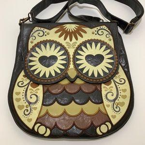 Large Loungefly Owl Messenger Bag Crossbody